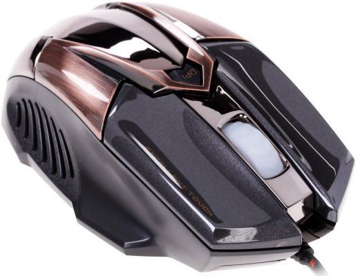 Мышь проводная Crown CMXG-606 коричневый чёрный USB