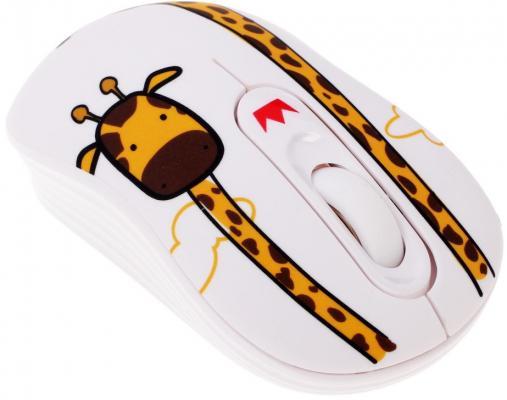 Мышь беспроводная Crown CMM-928W giraffe белый USB цена и фото