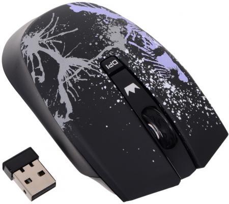 Мышь беспроводная Crown CMM-930W чёрный USB недорого