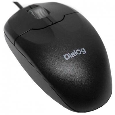 Мышь проводная Dialog Pointer Optical MOP-01BU чёрный USB
