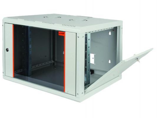 """Шкаф настенный 19"""" 7U Estap ProLine PRL7U56GF1 600x560mm серый"""