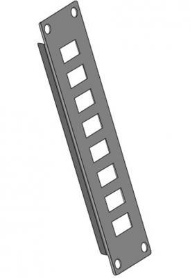 Патч-панель Estap SOHPP8PG неукомплектованная совместимая с RJ45 серый