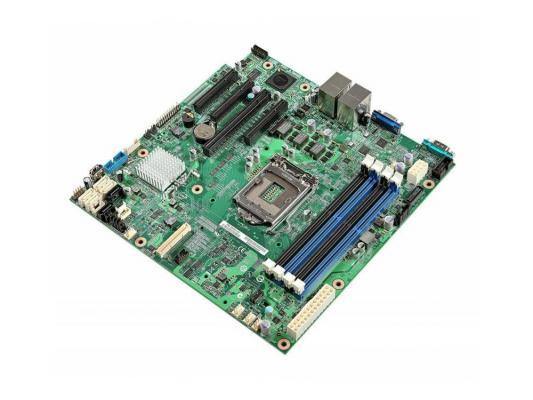Материнская плата Intel DBS1200V3RPS C222 LGA1150 E3-1200 V3 4xDDR3 2xPCI-E x8 1xPCI-E x4 1xPCI-E x1 4xSATAII 2xSATAIII microATX