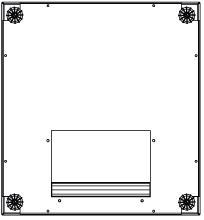 Пол Estap EUBP66G для шкафов Euro Line 600x600 серый