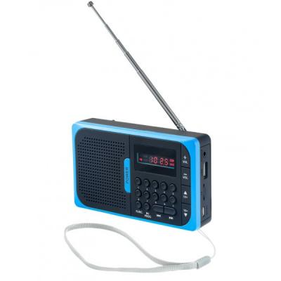 Радиоприемник Perfeo Sound Voyager PF-SV521-BL УКВ+ FM MP3 синий