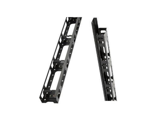 Вертикальный кабельный органайзер Estap M44ORG42SRVB 42U левая и правая панели для шкафов ServerMAX черный