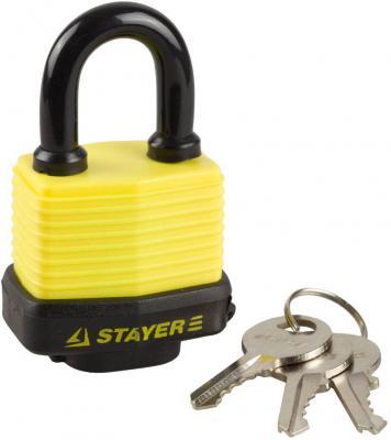 Замок Stayer MASTER навесной с закаленной дужкой 50мм 37140-40  навесной всепогодный замок 50 мм stayer master 37141 40