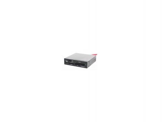 "Картридер внутренний 3,5"" All-in-1 USB 2.0 Gembird + SATA черный FDI2-ALLIN1S-B"