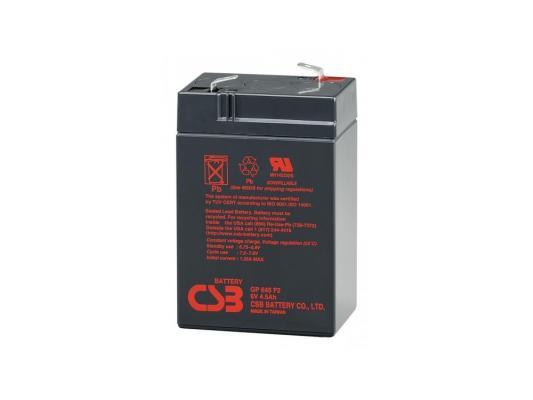 Батарея CSB GP-645 6V/4.5AH батарея csb hrl634w f2 6v 9ah