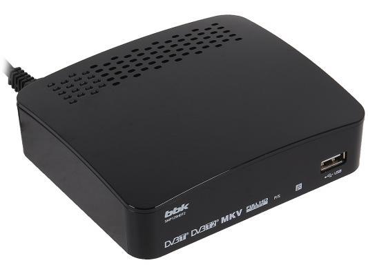 Тюнер цифровой DVB-T2 BBK SMP129HDT2 черный