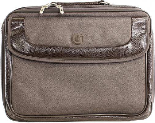 Сумка для ноутбука 15 Continent CC-05 Brown нейлон коричневая сумка для ноутбука 15 continent cc 101 black нейлон