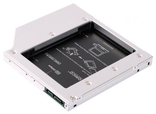 Адаптер HDD в отсек оптического привода ноутбука Orico L127SS-SV 2.5 SATA1 черный hdd для ноутбука