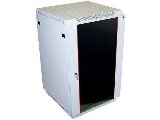 Шкаф напольный ШТК-M-22.6.6-1AAA 22U дверь стекло 2 коробки