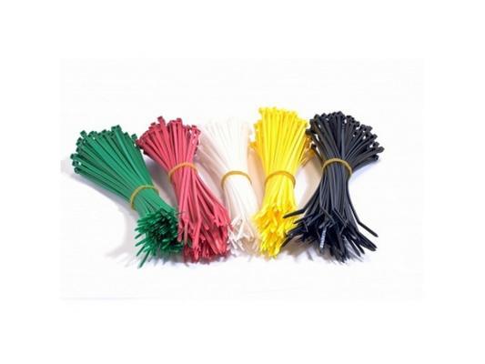 Набор стяжек Hyperline GT-160M 160x2.5мм 500шт 100 белый+100 красный+100 зеленый+100 желтый+100 черный