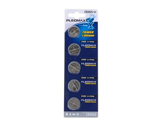 Батарейки Samsung Pleomax CR2025 5 шт батарейки samsung pleomax lr6 4bl 4 шт aa