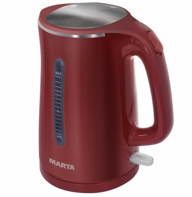 Чайник Marta MT-1065 1700 Вт красный 1.7 л металл/пластик marta mt 1980 красный