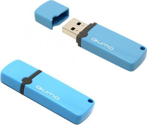 Флешка USB 8Gb QUMO Optiva 02 USB2.0 голубой QM8GUD-OP2-blue цена и фото
