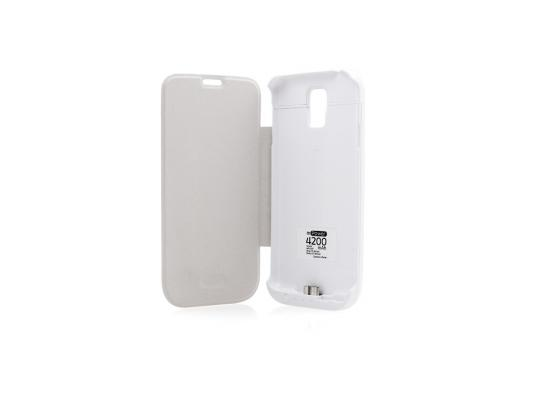 Чехол с аккумулятором Gmini mPower Case MPCS5F White для Galaxy S5 4200mAh Flip cover чехол с аккумулятором gmini mpower case mpcs45f white для galaxy s4 4500mah flip cover