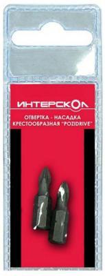Купить Отвертка-насадка Интерскол крестообразная Pozidriv PZ2 25мм 2шт 0400 002