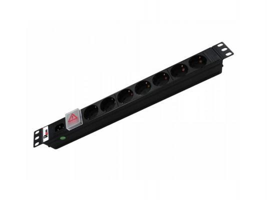 Блок розеток ЦМО Rem-10 R-10-7S-V-440-B черный 7 розеток