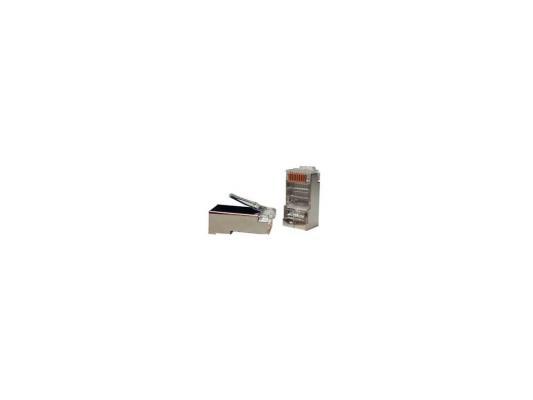 Коннектор Hyperline PLUG-8P8C-U-C5-SH Разъем RJ-45 8P8C категория 5е экранированный устройство для зачистки rj 45 hyperline h tools ht 318