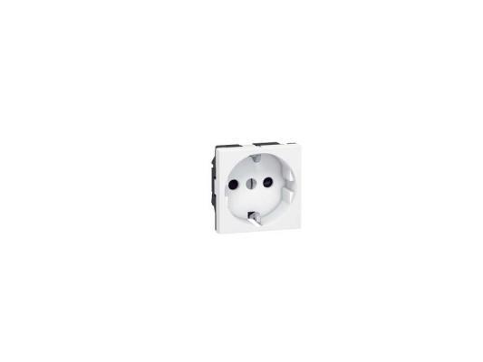 Розетка электрическая Legrand Mosaic 2К+3 2 модуля белый 77213