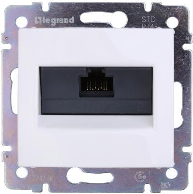 Розетка Legrand Valena для RJ45 UTP кат.5е безвинтовые зажимы 774230 розетка itk для rj45 utp кат 5е 1 выход белый cs2 1c5eu 12