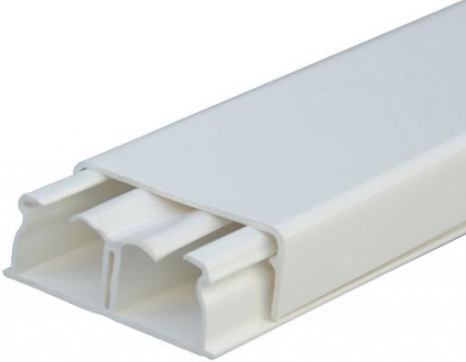 Купить Мини плинтус Legrand DLPLUS 2 отделения плоский 2, 1м 40X16мм белый 30021, Белый