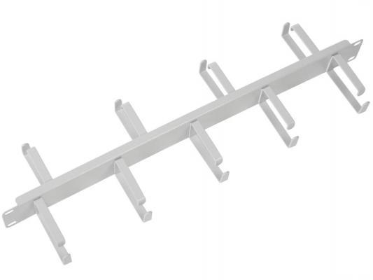 ЦМО Органайзер кабельный горизонтальный двусторонний ГКО-1-9-7035 19 1U 9 колец кабельный органайзер горизонтальный цмо гко у гребенка 1u шир 19