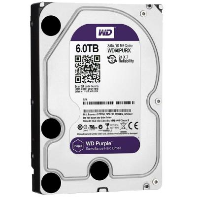 Жесткий диск 3.5 6 Tb 5400rpm 64Mb cache Western Digital SATAIII WD60PURX жесткий диск пк western digital wd40ezrz 4tb wd40ezrz