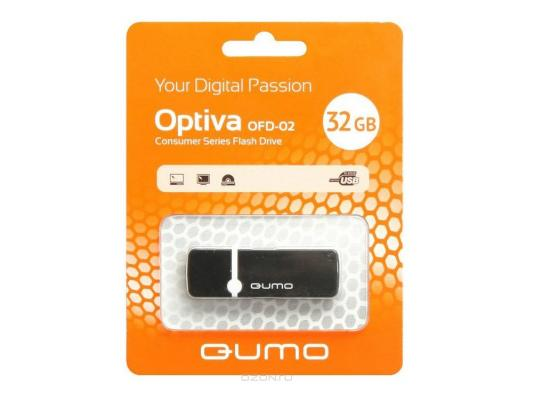 Флешка USB 32Gb QUMO Optiva 02 USB2.0 черный QM32GUD-OP2 usb флешка qumo keeper 32gb silver qm32gud keep usb 2 0 microusb