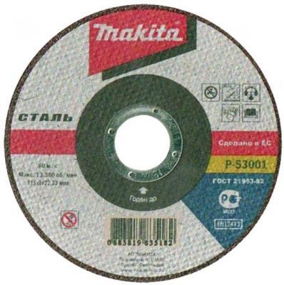 цена на Отрезной диск Makita 115x22.2x1мм по металлу P-53001