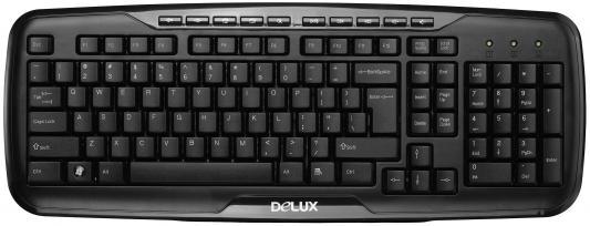 Клавиатура проводная Delux DLK-6200 USB черный