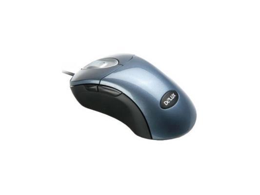все цены на Мышь проводная Delux DLM-500BT синий USB + PS/2 онлайн