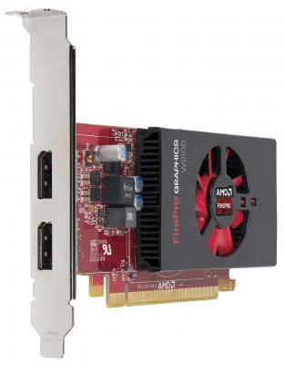 Видеокарта 2048Mb HP FirePro W2100 DDR3 128-bit 2xDisplayPort J3G91AA