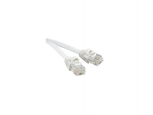 Патч-корд телефонный Hyperline PCM-RJ12-RJ12-5M-WH 5м литой 5м белый