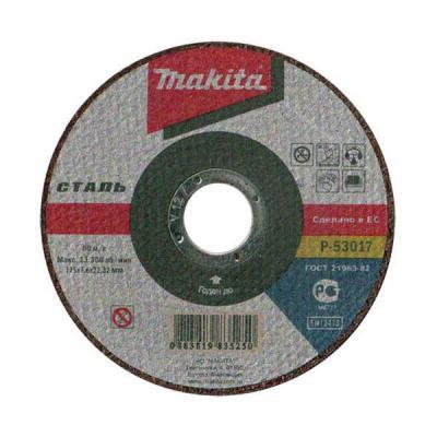 Отрезной диск Makita 115х22.2х1.6мм по металлу P-53017  P-53017