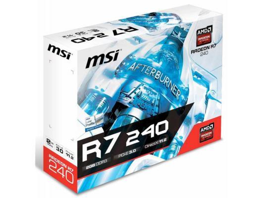 Видеокарта 2048Mb MSI R7 240 GDDR3 128bit LP PCI-E D-Sub VGA DVI HDMI Low Profile Retail R72402GD3LPV1 от 123.ru