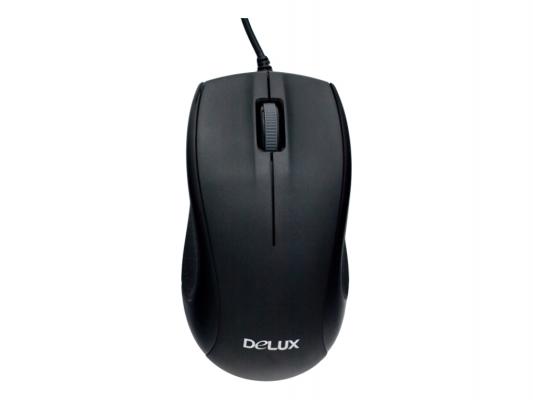 Мышь проводная Delux M375 чёрный USB