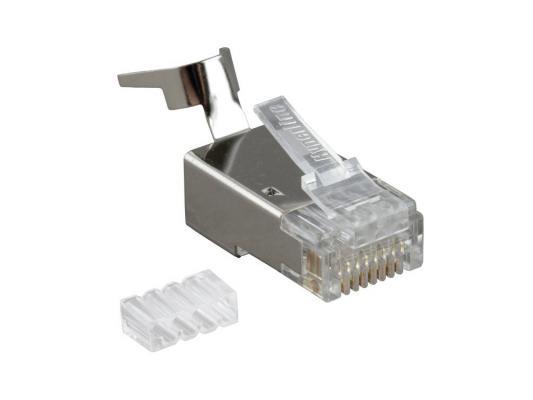 Коннектор Hyperline PLUG-8P8C-UV-C6-TW-SH10 RJ-45(8P8C) категория 6 со вставкой экранированный с зажимом
