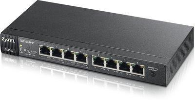 Коммутатор Zyxel GS1100-8HP неуправляемый 8 портов 10/100/1000Mbps PoE коммутатор zyxel gs1900 8hp управляемый 8 портов 10 100 1000mbps poe