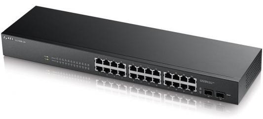 Коммутатор Zyxel GS1900-24 управляемый 24 порта 10/100/1000Mbps 2xSFP коммутатор zyxel es1100 16p es1100 16p eu0102f
