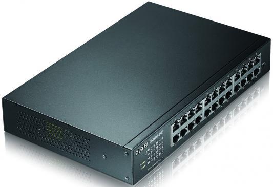 Коммутатор Zyxel GS1900-24E управляемый 24 порта 10/100/1000Mbps коммутатор zyxel gs1200 8hp gs1200 8hp eu0101f