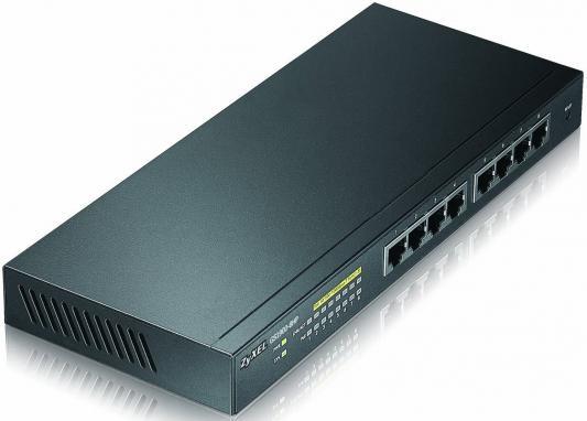 Коммутатор Zyxel GS1900-8HP управляемый 8 портов 10/100/1000Mbps PoE коммутатор hp ps1810 8g управляемый 8 портов 10 100 1000base t j9833a