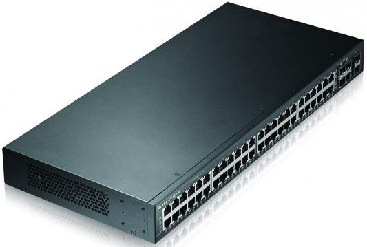 Фото - Коммутатор Zyxel GS1920-48 управляемый 48 портов 10/100/1000Mbps 2xSFP коммутатор zyxel mes3500 10 управляемый 10 портов sfp слот 100base x 2xgigabit ethernet
