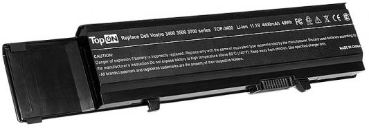 Аккумулятор для ноутбука Dell Dell Vostro 3400 3500 3700 4400мАч 11.1V TopON TOP-3400 аккумулятор для ноутбука dell vostro 1220 1220n series 4400мач 11 1v topon top dl2220lh