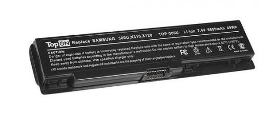 Фото - Аккумуляторная батарея TopON TOP-300U 6600мАч для ноутбуков Samsung 300U 300U1A 300U1Z N310 N315 NC310 N311 X118 X120 X170 X171 аккумуляторная батарея topon top r519h 6600мач для ноутбуков samsung r425 r428 r430 r468 r470 r478 r480 r505 r507 r510 r517 r519 r522 r528 r730 rv410 rv440 rv510 rf511 rf711