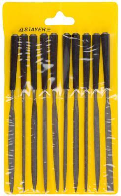 Набор надфилей с пластмассовой ручкой Stayer 10шт 16011-H10_z01