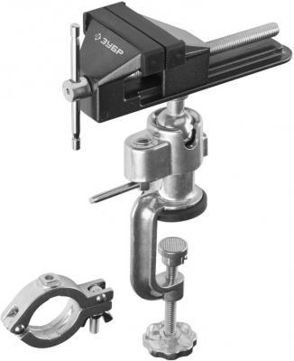 Тиски Зубр ЭКСПЕРТ шарнирно-поворотные для точных работ с зажимом для дрели 75мм 32487-75 ключ зубр 2909 10 z01 эксперт для патрона дрели 10мм