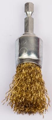 Щетка зачистная торцевая для дрели кисточка стальная Интерскол 0,3мм RPM4500 2235403000000